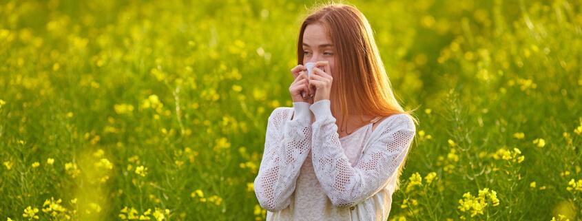 Suffering pollen allergy or hay fever